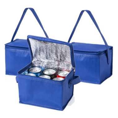 10x stuks koeltassen van polypropyleen sixpack blikjes blauw