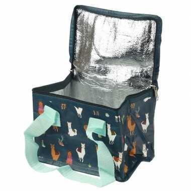 Alpaca/lama print blikjeskoeler koeltassen voor sixpack/6 blikken
