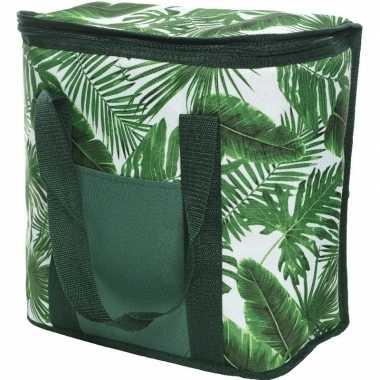 Bladeren print groen koeltassen 20 liter
