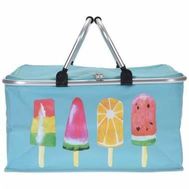Blauwe koeltassen met ijsjes 48cm