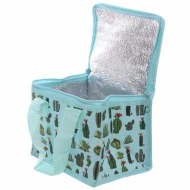 Cactussen print blikjeskoeler koeltassen voor sixpack/6 blikken