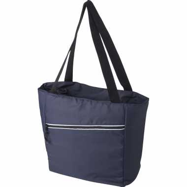 Grote koeltas draagtas/schoudertas blauw 30 x 43 x 16 cm 20 liter