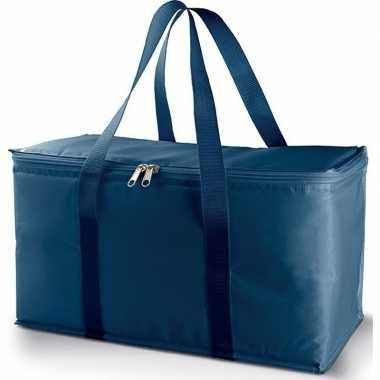 Grote koeltas metallic/blauw 17 liter