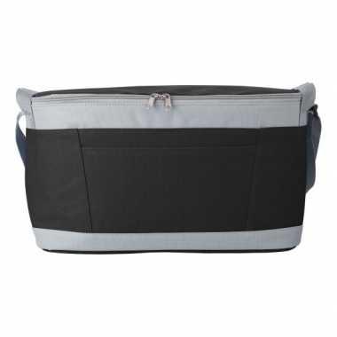 Grote koeltas zwart/grijs 18 liter