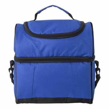 Handige koeltas blauw/zwart 12 liter