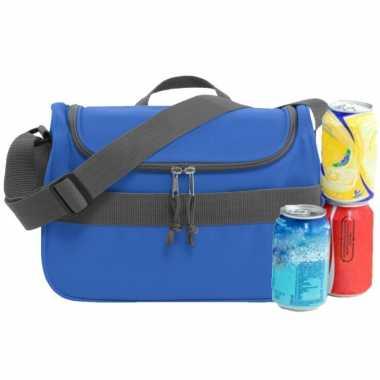 Kleine koeltas voor lunch blauw 30 x 15 x 22 cm 10 liter