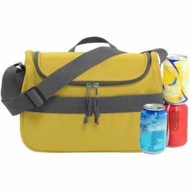 Kleine koeltas voor lunch geel 30 x 15 x 22 cm 10 liter