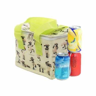 Kleine koeltas voor lunch met shaun het schaap print 16 x 21 x 14 cm 4,7 liter