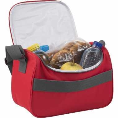 Kleine koeltas voor lunch rood 30 x 15 x 22 cm 10 liter