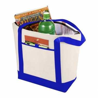 Koel boodschappentas van polypropyleen blauw