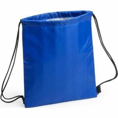 Koeler koeltassen blauw 27 x 33 cm gymtasje/rugzakje