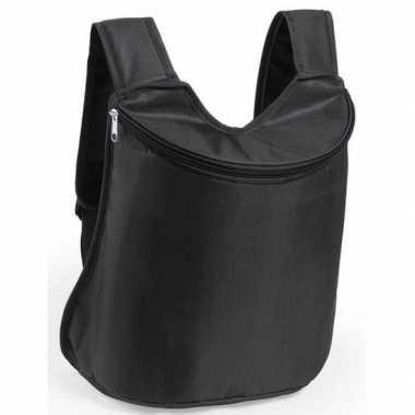Koeler koeltassen zwart 40 cm gymtasje/rugzakje