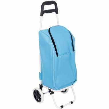 Koeltas trolley blauw 25 liter