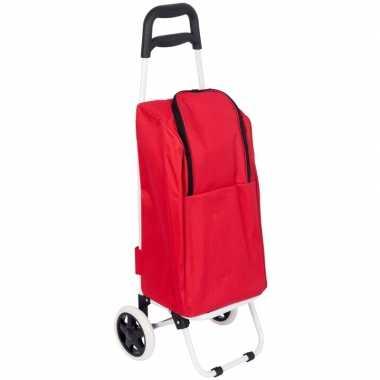 Koeltas trolley rood 25 liter