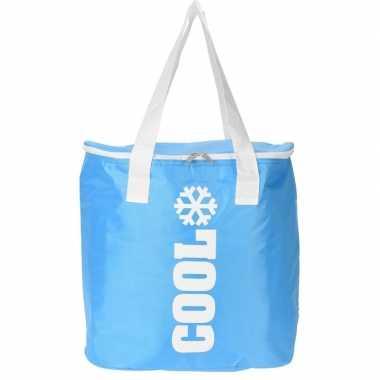 Ovale koel tas blauw 24 liter