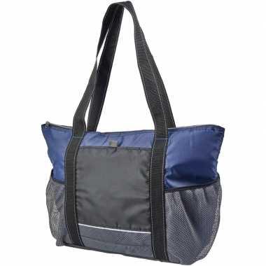Picknick koeltas zwart/blauw