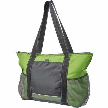 Picknick koeltas zwart/groen