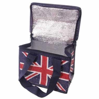 Union jack/united kingdom print blikjeskoeler koeltassen voor sixpack