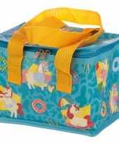 Eenhoorn unicorn print blauw blikjeskoeler koeltassen voor sixpack 6 blikken