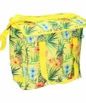 Koel tas geel met hawaiiprint 22 ltr