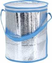 Ronde koeltas aluminium blauw 26 cm