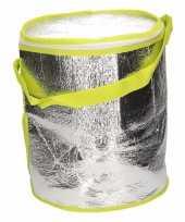 Ronde koeltas aluminium groen 26 cm