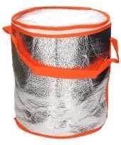 Ronde koeltas aluminium oranje 26 cm