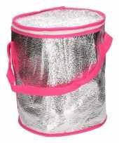 Ronde koeltas aluminium roze 26 cm